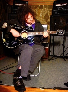 Robert Smith with Autographed Guitar